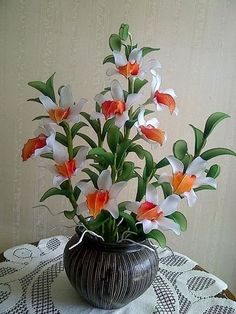 Nylon Flowers, Wire Flowers, Organza Flowers, Cloth Flowers, Plastic Flowers, Fabric Flowers, Paper Flowers, Flower Crafts, Flower Art