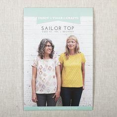Sailor Top Printed Pattern | Fancy Tiger Crafts