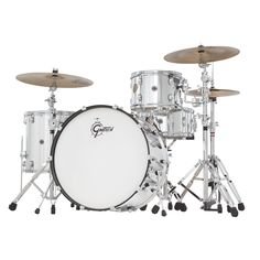 Gretsch Drums Catalina Club Jazz Shell Pack with Bass Drum Vintage Marine Pearl Drums Electric, Gretsch Drums, Classic Jazz, Rock Sound, Drum Kits, Indie Music, Shells, Music Instruments, Club
