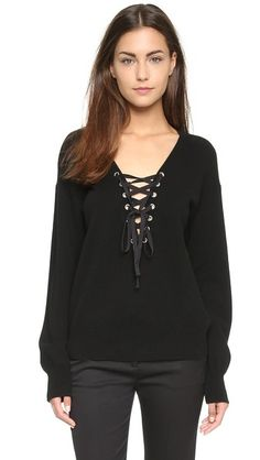 The Kooples Lace Up Sweater | SHOPBOP