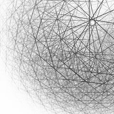 3d spherical structure black and white Stock Photo