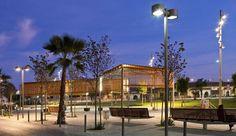 Urban lighting in Alicante, Spain Landscape Lighting Design, External Lighting, Alicante Spain, Street Lamp, Street Furniture, Light Project, City Lights, Urban Design, Landscape Architecture
