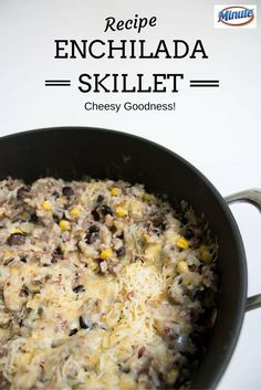 One skillet cheesy enchilada recipe Minute Rice Recipes, Healthy Rice Recipes, Rice Recipes For Dinner, Easy Chicken Recipes, Cooking Recipes, Easy Recipes, Cheap Easy Meals, Easy Meals For Kids, Healthy Family Meals