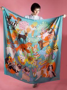 Fancy Dress Supersized Silk scarf   Karen Mabon
