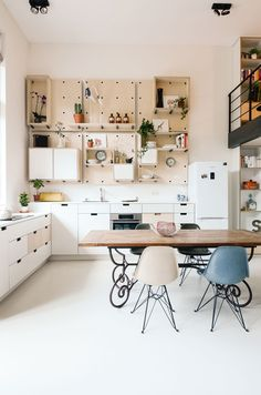 It is hard to believe this was once a school. This modern, bright and airy loft in Amsterdam is...