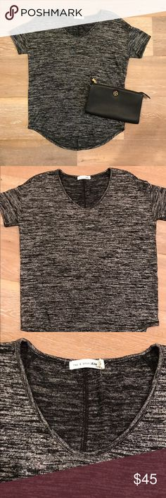 Rag & bone Melrose tee Rag & Bone heather grey tee. Super soft, goes well with anything white or black! Worn once. Perfect condition. Purchased at Nordstroms. Smoke free home No Trades. XS rag & bone Tops Tees - Short Sleeve