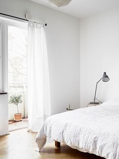 all white bedroom wi