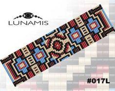 Loom bracelet pattern loom pattern square par LunamisBeadsPatterns