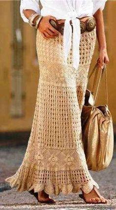 Crochetando com Maria Mantovani: Pap do square que se usa pra esse modelo de saia.....