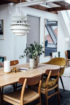 CH23 Chair By Hans J. Wegner From Carl Hansen U0026 Søn And Snowball Pendant By