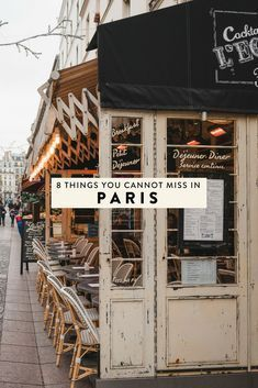 Paris France is full of countless things to do making it hard to narrow down your itinerary. Here are 8 things you cannot miss when visiting including the best places to eat drink and see! Eurotrip, Merci Paris, Paris 3, Paris Bars, Belle France, France 3, Places To Travel, Travel Destinations, Places To Go