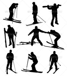 Ski Set  #GraphicRiver         Ski silhouettes collection. Vector eps8.     Created: 6February13 GraphicsFilesIncluded: JPGImage #VectorEPS Layered: No MinimumAdobeCSVersion: CS Tags: action #art #background #beginner #black #board #boy #clip #cold #cool #dangerous #downhill #extreme #fast #freeze #fun #guy #illustration #isolated #jump #kid #lifestyle #men #mountain #move #peak #people #pose #silhouette #ski