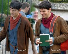 """""""Season 1 and 5 His clothes finally fit haha"""" <---- Well, I thought my clothes were just fine. Thank you very much!"""