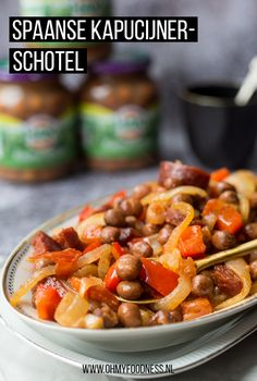 Spaanse kapucijnerschotel One Pan Meals, Easy Meals, Good Food, Yummy Food, Tapas, Camping Meals, Kung Pao Chicken, Summer Recipes, Paleo
