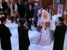 Who walked Phoebe down the aisle when she married Mike?