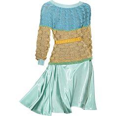 Satinee's collection - Rodarte ❤ liked on Polyvore featuring dresses, vestidos, satinee, платья and rodarte