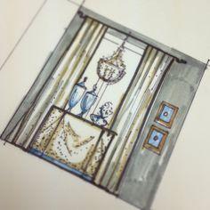 Design sketch rendering | SoHaus Interior Design | Rachel Cannon Lewis