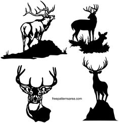 If you are looking for dxf files for CNC plasma cutter or CNC laser cutting machine this images may be for you. Hirsch Silhouette, Deer Silhouette, Silhouette Vector, Free Vector Files, Vector Free Download, Vector For Free, Free Downloads, Deer Vector, Vector Art
