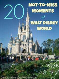 There is so much to do at Disney World.  Here are 20 special and fun moments not to be missed.  (And most are completely free!)