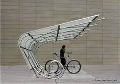 A most awesome covered bike rack