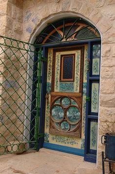 Designed door in zefat, Israel Door Entryway, Entrance Doors, Doorway, Cool Doors, Unique Doors, Door Knockers, Door Knobs, Doors Galore, When One Door Closes