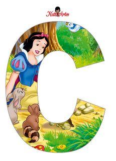 Alfabeto de Blancanieves con Animales.