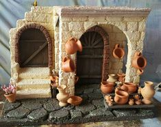 1 million+ Stunning Free Images to Use Anywhere Nativity House, Christmas Nativity Scene, Christmas Villages, Miniature Crafts, Miniature Houses, Simple Christmas, Christmas Diy, Free To Use Images, Christmas Centerpieces