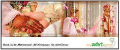 Book Matrimonial Ad in Indian Newspapers online via myadvtcorner
