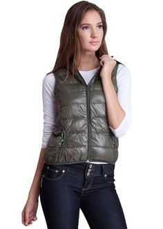 Packable Nylon Down Jacket Vest  #nylon #vest #jacketvest #paddedvest
