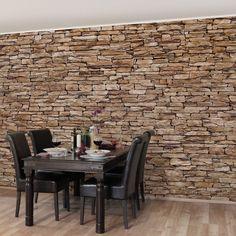 Bilderwelten Vliestapete Steinoptik Premium Breit »Crete Stonewall« Good Ideas