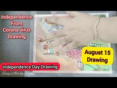 Easy Art, Simple Art, Cartoon Drawings, Easy Drawings, Independence Day Drawing, Poster Drawing, August 15, Youtube, Corona