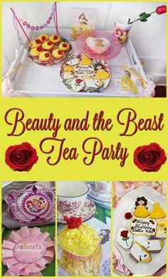 Beauty and the Beast Princess Tea Party #disney