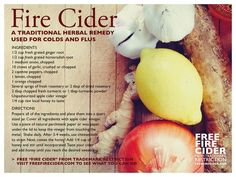 Fire Cider Recipe All Natural Master Tonic Watch The Video