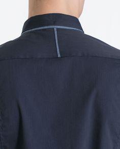 CAMISA ELÁSTICA MIL RAYAS - Camisas - Hombre | ZARA España