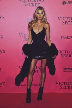 Elsa Hosk at Victoria's Secret after party 2016