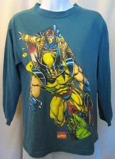 Vintage Rare 1993 X-MEN WOLVERINE GRAPHIC Gambit Superhero Comic Movie Hip  Unisex Small Longsleeve T-Shirt 757b69efd0dc