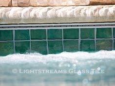 Gallery #43 | lightstreams Glass Pool Tile, Rectangle Pool, Pool Remodel, Tile Installation, Outdoor Entertaining, Swimming Pools, Pool Ideas, Backyard, Gallery