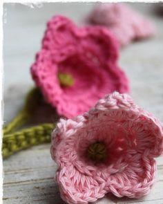 Erg leuk bloemetje om te haken