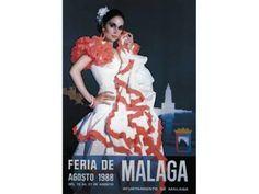 Cartel de la Feria 1988. Felix Revello del Toro. Este cartel aparece en la fachada del Museo de Málaga.