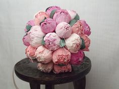 Wedding bouquet bridal bouquet paper flower by Mazziflowers on Etsy, $70.00