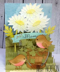 Hello~ I've got a pop-up card to share with you today using lots of dies from Elizabeth Craft Designs. This was made for my sweet moth...