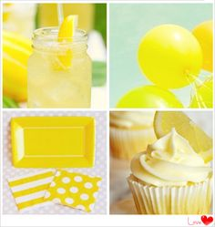 yellow birthday party decorations