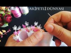 Çiçekli, Sıralı İğne Oyası Modeli Needle lace 👍 - YouTube Needle Tatting, Needle Lace, Right Angle Weave, Crochet Needles, Cheese Cloth, Pearl Flower, Weaving, Beaded Bracelets, Embroidery