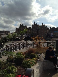Beautiful views from the top of Edinburgh Waverley Train station