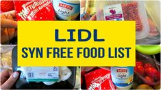 Lidl Slimming World Free Food and Low Syn - KitchMe astuce recette minceur girl world world recipes world snacks Aldi Slimming World Syns, Slimming World Healthy Extras, Slimming World Shopping List, Slimming World Treats, Slimming World Tips, Slimming Word, Slimming World Recipes Syn Free, Shopping Lists, Lidl