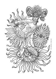 Aries, #Dibujos e #Ilustraciones #Illustrations de Tony Carbonell #Cadiz