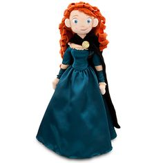 Disney Merida Plush Doll - Brave - Medium - 20'' | Disney StoreMerida Plush Doll - Brave - Medium - 20'' - Bring our soft and sweet Merida Plush Doll along on all your  adventures! Merida's dress is designed in satin with intricate detail, while her scarlet ringlets created from soft boa are exceptionally soft and curly.