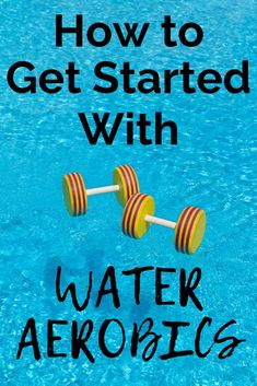 Have you set a goal to workout more but aren't a fan of the traditional gym exercises? Why not try water aerobics? Aqua aerobics are a great beginner friendly workout routine - plus it's low impact thanks to the water and puts less stress on your joints. Water Aerobics Routine, Water Aerobics Workout, Water Aerobic Exercises, Swimming Pool Exercises, Pool Workout, Swimming Videos, Swimming Tips, Fitness Exercises, Workout Fitness