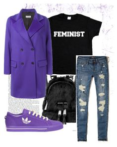 """Purple boom 😈"" by doroshs on Polyvore featuring мода, MICHAEL Michael Kors, Alberto Biani, Hollister Co. и adidas"