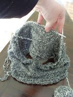 CIRCULAR SCARF-Made from repurposed yarn on circular knitting needles ~ ~ ~STYLISH!!!